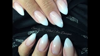 getlinkyoutube.com-Baby Boomer | Faded Ombré French Acrylic nails | Ink London Acrylink