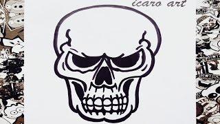 getlinkyoutube.com-Como dibujar una calavera | how to draw skull