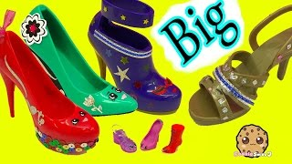 getlinkyoutube.com-Painting + Designing Large Big Shopkins Inspired Shoes - Crayola Shoe Designer Studio Craft Playset