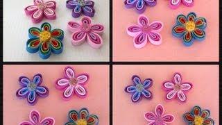 getlinkyoutube.com-FLORES HECHAS  CON TIRAS DE FOAMY O GOMA EVA .- FOAM FLOWERS .
