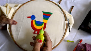 getlinkyoutube.com-How to do? Madhubani painting in Saree..