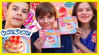 getlinkyoutube.com-POPIN COOKIN BIRTHDAY CAKE! | HAPPY KITCHEN BY KRACIE! KAWAII COOKING! |  KITTIESMAMA