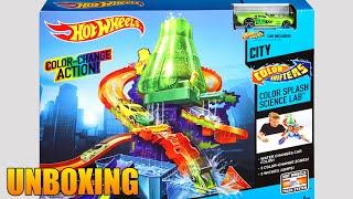 getlinkyoutube.com-Hulk y El Laboratorio Hot Wheels Color Shifter Splash Lab