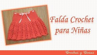 getlinkyoutube.com-Falda para niña tejida a crochet (ganchillo) con abanicos y punto relieve