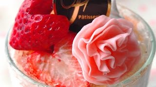 getlinkyoutube.com-DIY Heart Shaped Strawberry&Carnation Jelly for Mother's day gift