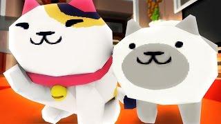getlinkyoutube.com-Neko Atsume! | Cowboy Cats! Minecraft Hide and Seek