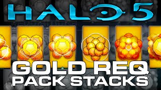 getlinkyoutube.com-Halo 5: Guardians - Multiple GOLD REQ Pack Bundles! 13 Gold REQ Pack Opening!