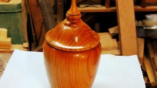 getlinkyoutube.com-#29 Woodturning a Lidded Box from Brazilian Cherry Part 1