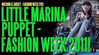 "getlinkyoutube.com-Animatronic Puppet ""Little Marina"" For Missoni/Target, Fashion Week 2011, NYC  ADI"