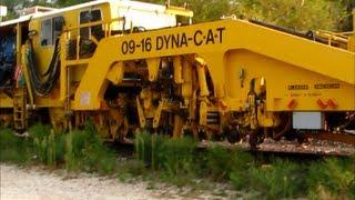 getlinkyoutube.com-Union Pacific Maintenance Machines Leave Siding in Ames, Iowa
