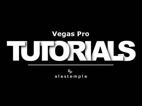 Sony Vegas Pro - How Create Simple Animation Text Tutorial