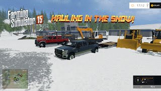 getlinkyoutube.com-Farming Simulator 2015- Hauling In the Snow!