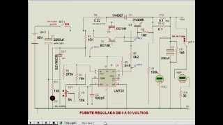 Fuente Regulada ajustable de 0V a 60V y 2A