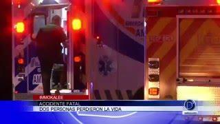 Dos personas perdieron la vida en accidente fatal en Immokalee