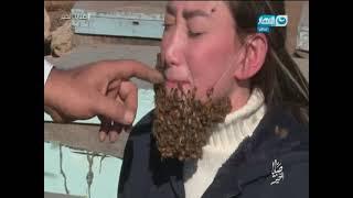getlinkyoutube.com-صبايا الخير | شاهد لحظة هجوم خلية نحل على ريهام  سعيد