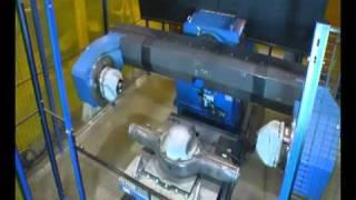 getlinkyoutube.com-Motoman robot welding a heavy truck rear axle