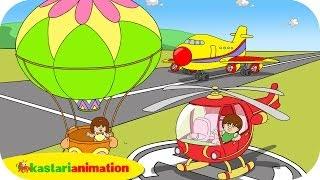 getlinkyoutube.com-Kutahu Nama Kendaraan (balon udara, helikopter, pesawat terbang) - Kastari Animation Official
