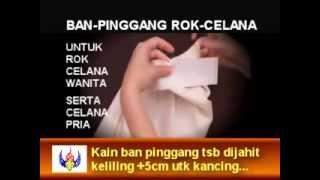 getlinkyoutube.com-Cara Jahit Ban Pinggang Rok dan Celana
