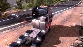 getlinkyoutube.com-Euro Truck Simulator 2 - Scania 8x4 Unfall mit Trucks ETS 2 Mod