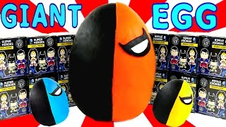 getlinkyoutube.com-HUGE Funko Mystery Minis Play Doh Surprise Egg Deathstroke DC Comics Super Heroes LEGO Toys