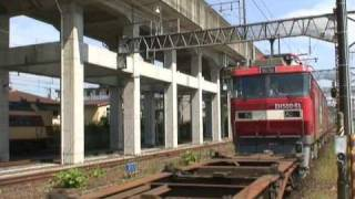 getlinkyoutube.com-JR貨物黒磯駅 機関車の付け替え JRFreight  locomotive Change at Kuroiso Station