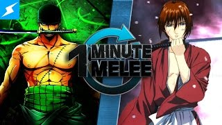 getlinkyoutube.com-One Minute Melee - Roronoa Zoro Vs Rurouni Kenshin (One Piece vs Samurai X)