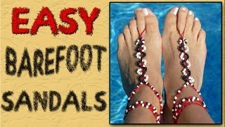 getlinkyoutube.com-Easy Barefoot Sandals