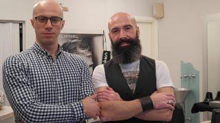 getlinkyoutube.com-Old Style Italian Barber - Complete Head and Face Shave  - ASMR Binaural