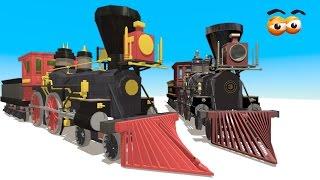 getlinkyoutube.com-CUBE BUILDER for KIDS (HD) - Build a Steam Train Engine for Children - AApV