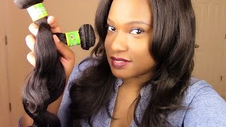 getlinkyoutube.com-Aliexpress Iwish Hair: Brazilian Virgin Hair Body Wave {First Impression}