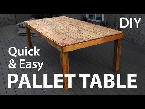 Cum sa faci o masa din paleti