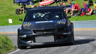 getlinkyoutube.com-Very Fast Mitsubishi Lancer EVO VIII by Roger Schnellmann at Swiss Hillclimb 2014