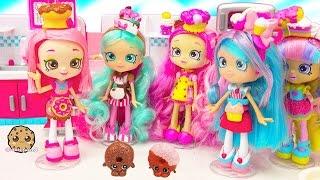 getlinkyoutube.com-Chef Club Season 6 Shopkins Shoppies Doll Donatina with Exclusives + Playdoh Donuts