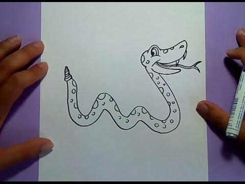 Como dibujar una serpiente paso a paso 8   How to draw a snake 8