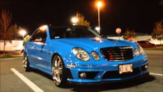 getlinkyoutube.com-BABY BLUE w211 2009 E63 AMG - STRAIGHT PIPE EXHAUST