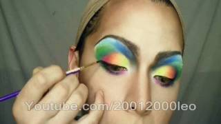getlinkyoutube.com-Gay flag makeup ( fast Tutorial)