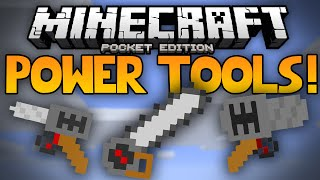 getlinkyoutube.com-POWER TOOLS MOD!!! - Drills, Chainsaws, and Jackhammers in MCPE! - Minecraft Pocket Edition