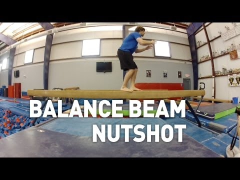 Gymnast Balance Beam Backflip Fail!