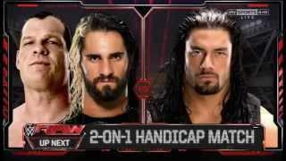 getlinkyoutube.com-2 on 1 Kane and Seth Rollins vs Roman Reigns