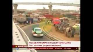 getlinkyoutube.com-MiddayLive - First phase of Kwame Nkrumah circle interchange completed - 7/8/2015
