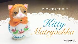 getlinkyoutube.com-DIY Clockwork Cat Russian Doll - Japanese Sewing Craft Kit