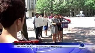 Test ideológico propuesto por Donald Trump para inmigrantes