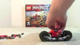 getlinkyoutube.com-Ninjago 70600 Ninja Bike Chase Speedbuild