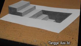 "getlinkyoutube.com-Melukis Dengan Pensil 2B - ILUSI 3D ""Tangga"""
