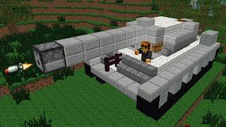 getlinkyoutube.com-Minecraft: Como fazer tanque de guerra realístico que ATIRA!!!