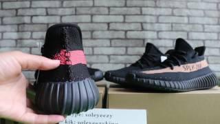 getlinkyoutube.com-Yeezy Boost 350 Black Red vs Copper HD Review