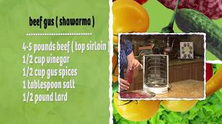 getlinkyoutube.com-cooking with samira #138 gus ( showerma ) كص عراقي، samoon صمون عراقي، yellow rice