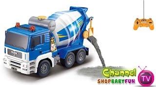 getlinkyoutube.com-Xe ô tô trộn bê tông điều khiển từ xa | Concrete mixer trucks remote control [dochoihanquoc.vn]
