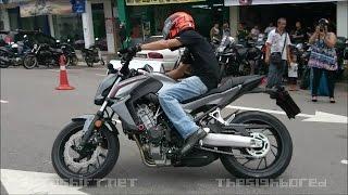 getlinkyoutube.com-Honda CB650F brief test ride