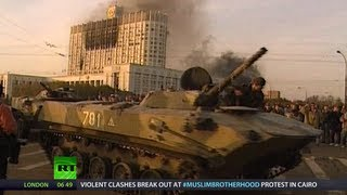 getlinkyoutube.com-Black October '93: Tanks in Moscow, Blood on Streets (RT Documentary)